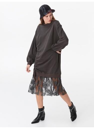 Twist Elbise Antrasit